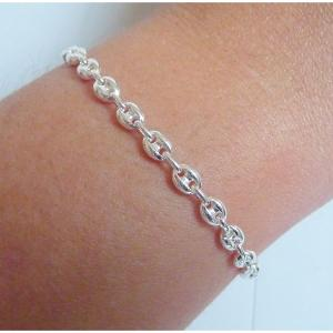 check-out 33ee2 31346 BRACELET ARGENT GRAIN CAFE 4