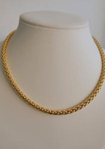 COLLIER PLAQUE OR MAILLE  PALMIER