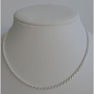 COLLIER ARGENT CORDE DIAMANTEE