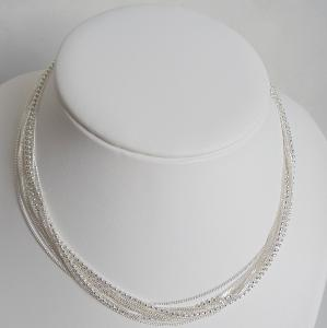 COLLIER ARGENT MULTIRANGS 10