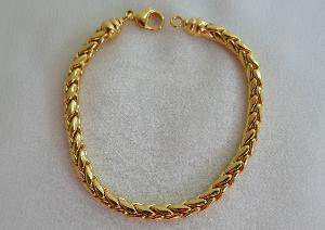 BRACELET PLAQUE OR MAILLE PALMIER