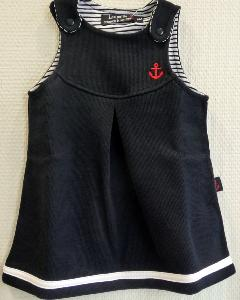 Robe marin enfant chasuble maille